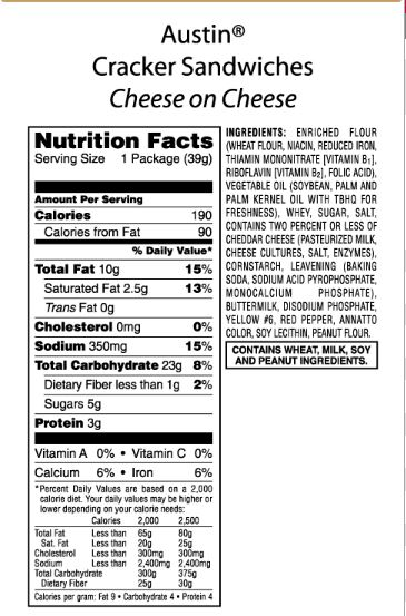 Product Catalog Snacks Crackers Cereals